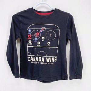 Boys' Roots Kids CANADA WINS Long Sleeve Shirt 7-8